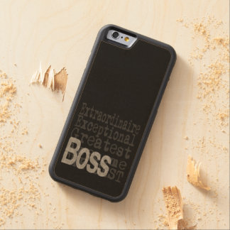 Boss Extraordinaire Carved Maple iPhone 6 Bumper Case