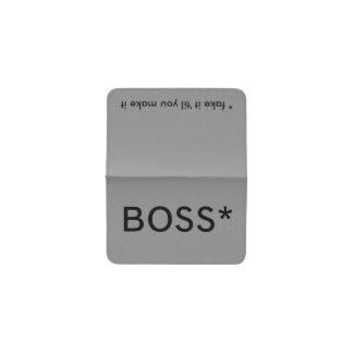 Boss * (fake it 'til you make it) Template Business Card Holder