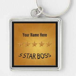 Boss Five 5 Star Award Gold Keychain