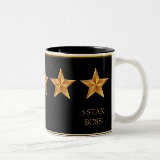 Boss Five 5 Star Black Mug