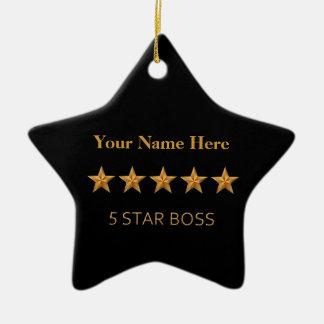 Boss Five 5 Star Christmas Star Ornament