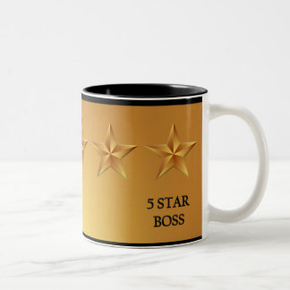 Boss Five 5 Star Gold Mug