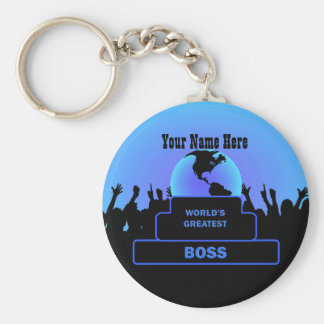Boss Greatest  Cheers Custom Basic Keychain