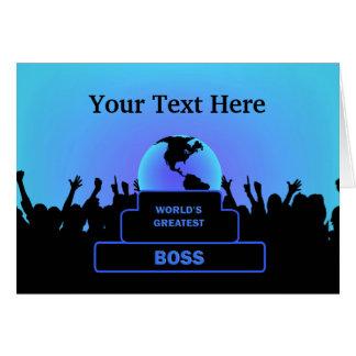 Boss Greatest  Cheers Custom Blue Card