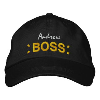 BOSS Hat with Stars and Custom Name V01