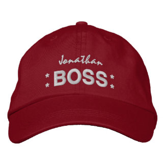 BOSS Hat with Stars and Custom Name V03