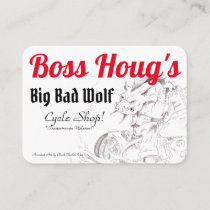 Boss Hougs black, White, Red Business Card