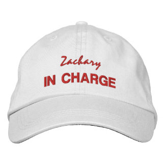 BOSS IN CHARGE Hat with Custom Name V06