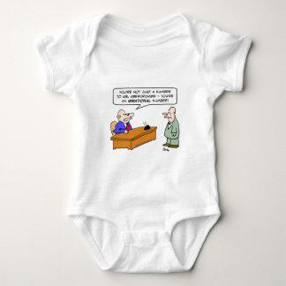 boss irrational number businessman baby bodysuit