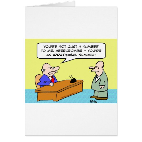 boss irrational number businessman card