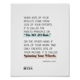 Boss Ladies Follow the 80/20 Rule Motivational Poster