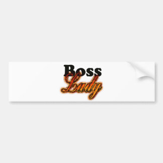 Boss Lady Bumper Sticker