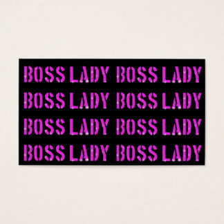 """Boss Lady Business, 3.5"""" x 2.0"""", 100 pack, White Business Card"""