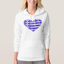 Boss Lady Diamond Pattern Heart Hoodie