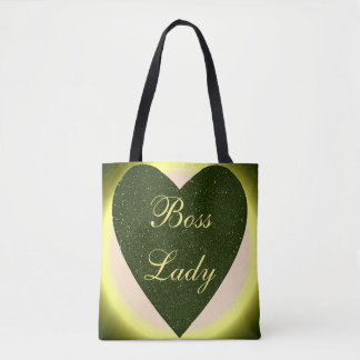 Boss Lady Heart All-Over-Print Tote Bag