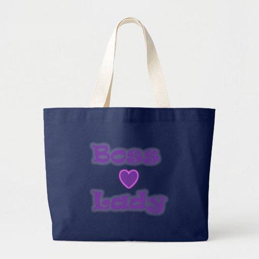 Boss Lady Heart Glow Jumbo Tote Canvas Bags