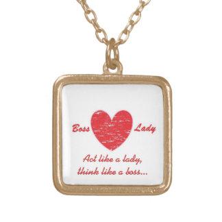 Boss Lady Heart Necklace