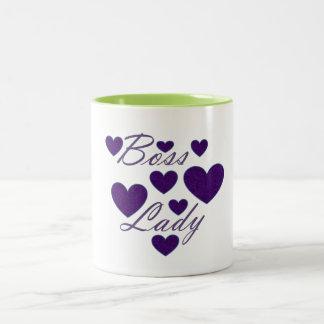 Boss Lady Hearts Mug