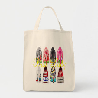 Boss Lady High Heel Shoes Grocery Tote