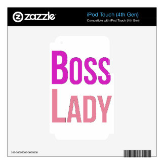Boss Lady iPod Touch 4G Decals