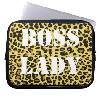 Boss Lady Leopard Print Electronics Bag