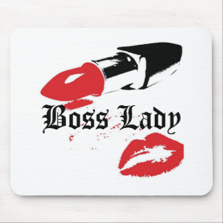 Boss Lady Lipstick and Lips Mousepad