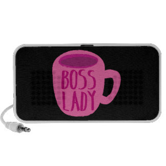Boss Lady pink Coffee Cup Portable Speakers