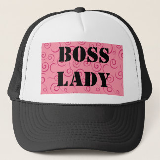 Boss Lady Pink Swirl Hat