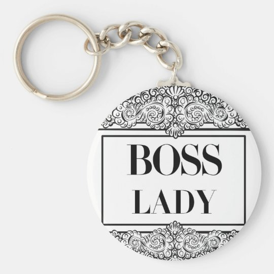 Boss Lady Positive Quote S Keychain