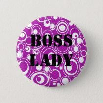 Boss Lady Purple Pattern Button