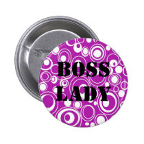 Boss Lady Purple Pattern Button
