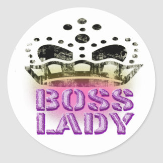 Boss Lady Queen - Large Crown Round Sticker