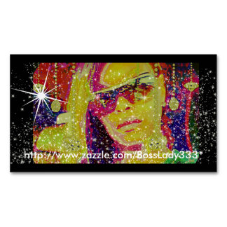 Boss Lady Sparkle Business Card Magnet