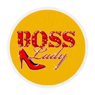 Boss Lady Stiletto Heel Edible Frosting Rounds
