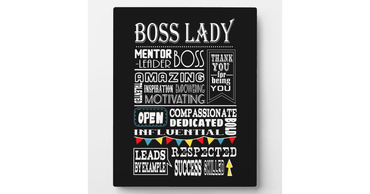 Boss Lady Thank You Plaque Zazzle Com