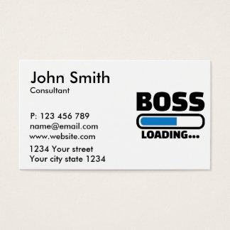 Boss loading business card