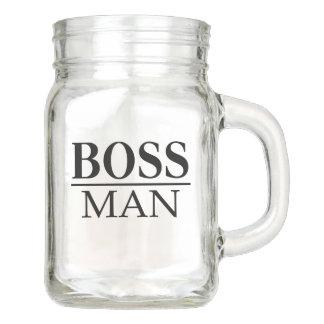BOSS MAN MASON JAR
