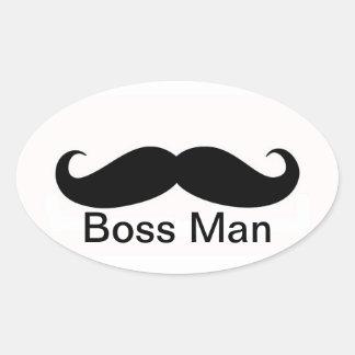 Boss Man Oval Sticker