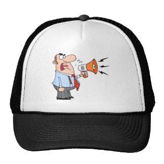 Boss Man Screaming Into Megaphone Trucker Hat