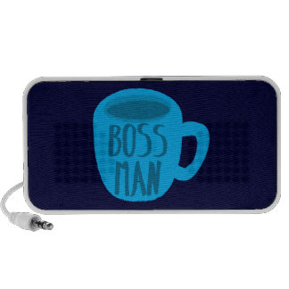 Boss man with blue Coffee CUP iPhone Speaker