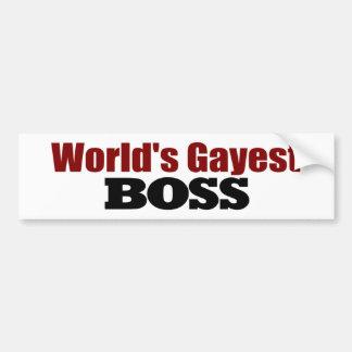 Boss más alegre de los mundos pegatina para auto