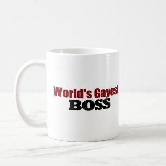 Boss más alegre de los mundos taza básica blanca