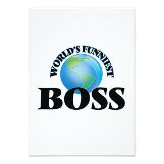 """Boss más divertido del mundo invitación 5"""" x 7"""""""