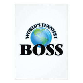 """Boss más divertido del mundo invitación 3.5"""" x 5"""""""