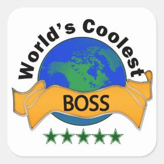Boss más fresco del mundo pegatina