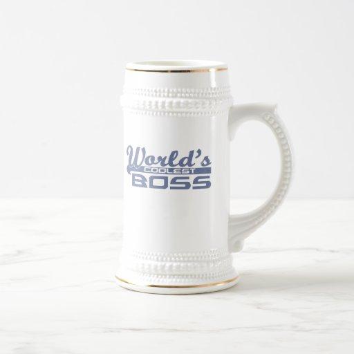 Boss más fresco del mundo tazas de café