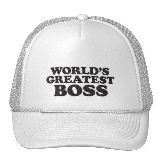 Boss más grande del mundo gorros