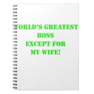 Boss más grande del mundo cuaderno