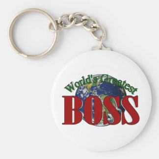 Boss más grande del mundo llavero redondo tipo pin