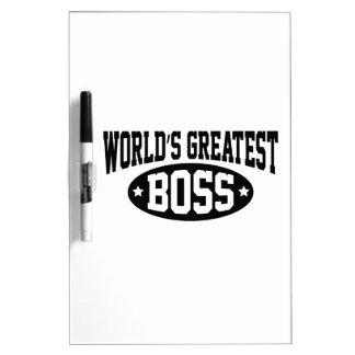 Boss más grande del mundo pizarra blanca